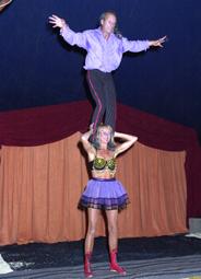 Komische acrobatiek act